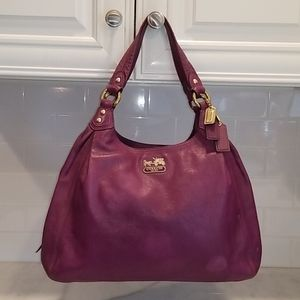 Coach Maggie Madison Leather Violet  Hobo Bag